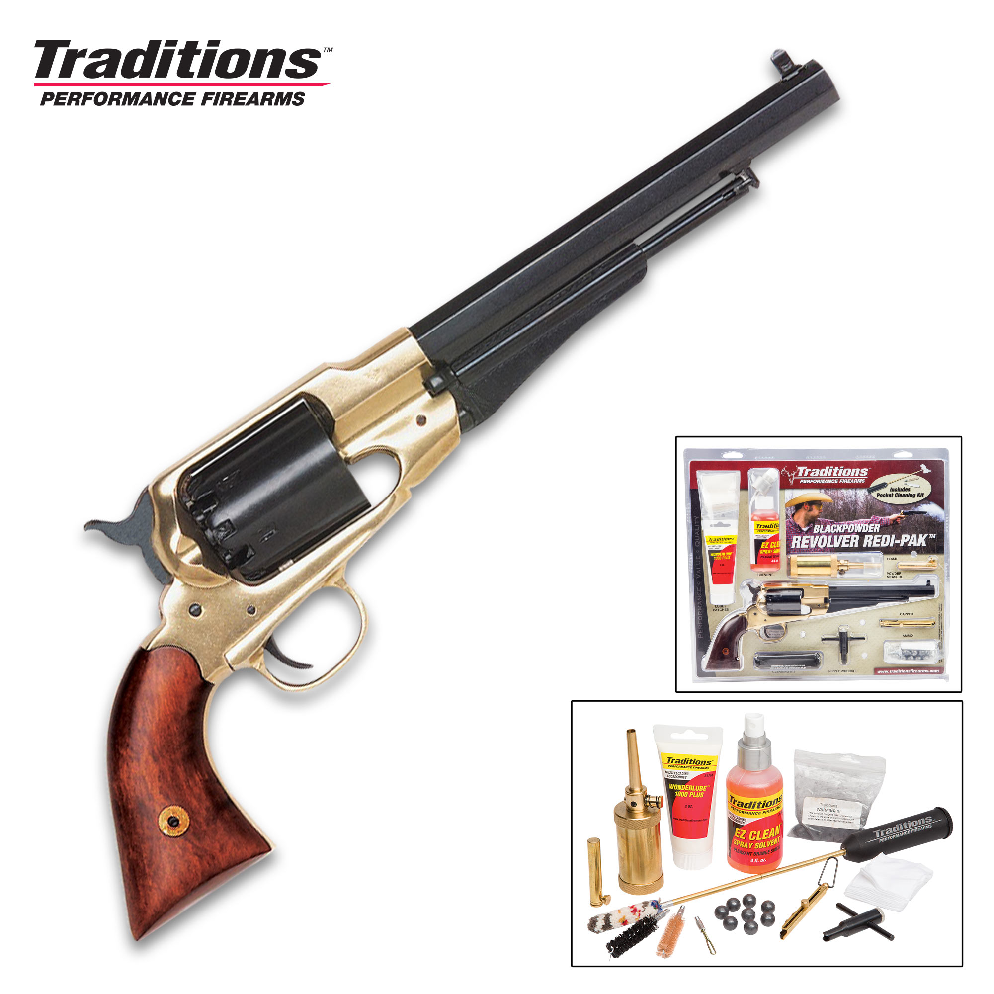 Traditions Firearms Colt 1858 Army Revolver with Redi-Pak