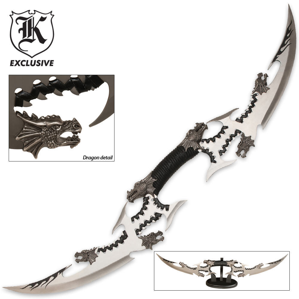 Six Dragon Head Double Blade Sword Budk Com Knives