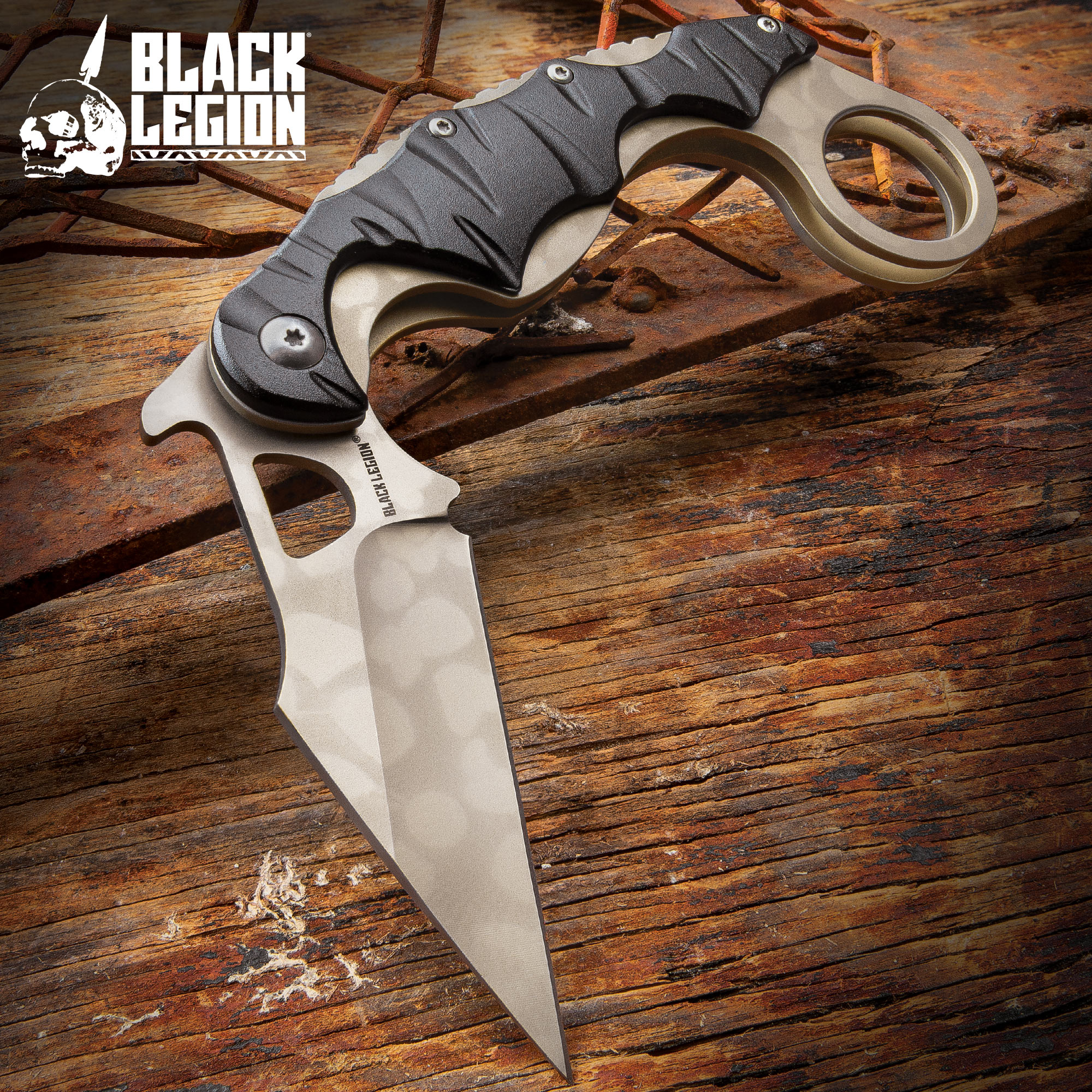 Black Legion Camouflage Folding Karambit | BUDK.com - Knives & Swords At The Lowest Prices!