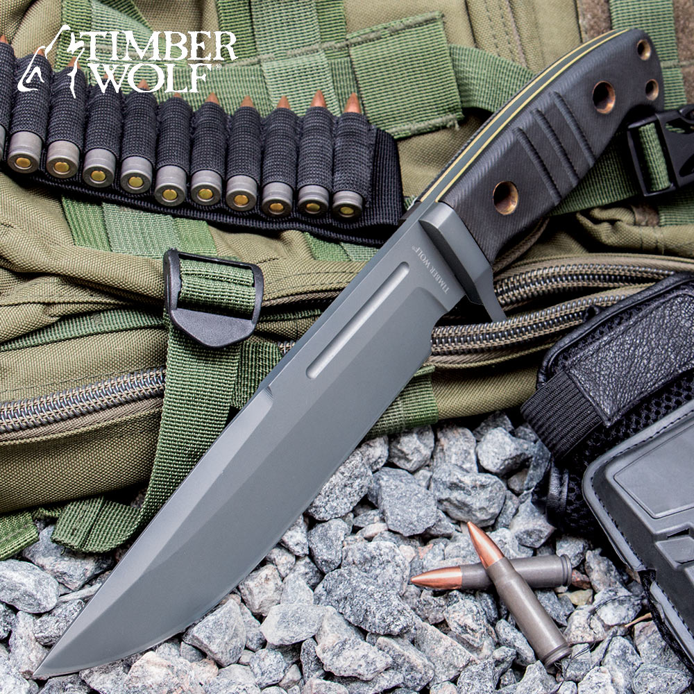 Timber Wolf Extreme Tactical Bowie Knife | BUDK.com ...