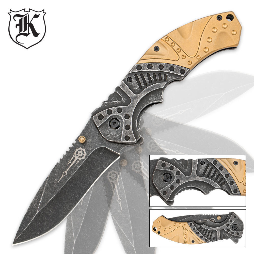 gears and gold steampunk pocket knife chkadels com survival