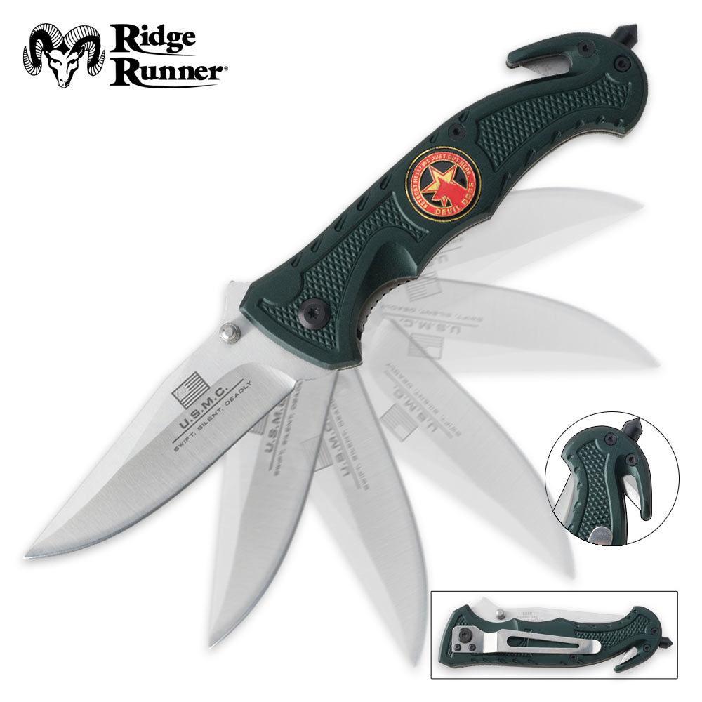 Knife On Lucifer: Ridge Runner Devil Dog Assist Folding Knife