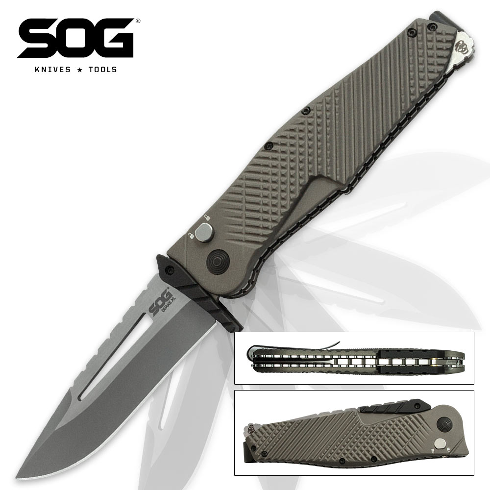Sog Quake Xl Assisted Opening Pocket Knife Kennesaw Cutlery