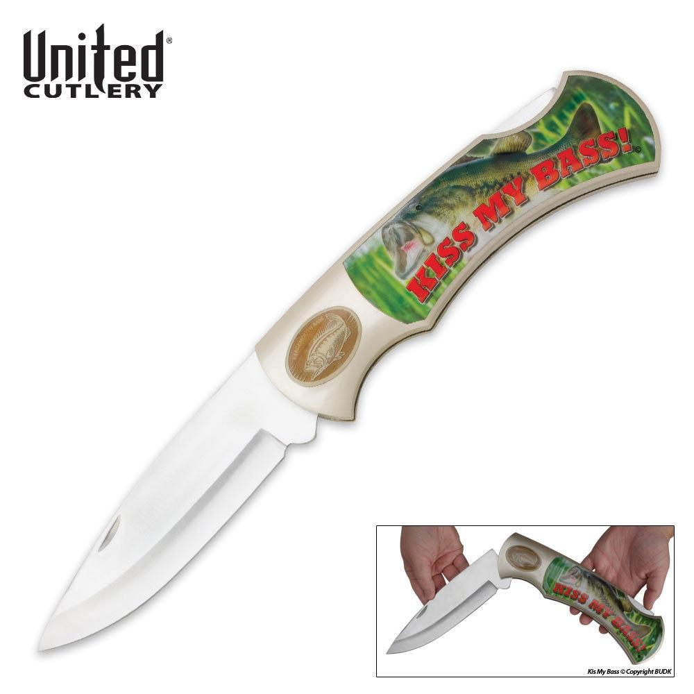 United Cutlery Knives: United Cutlery Edge Kiss My Bass Jumbo Pocket Knife