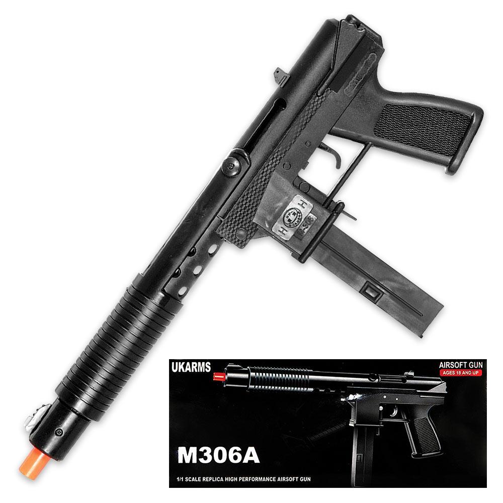 Tec-9 Spring Powered Airsoft Handgun - Authentic Look