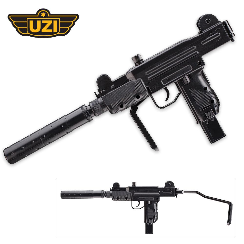 UZI Mini Carbine With Mock Silencer | BUDK com - Knives & Swords At