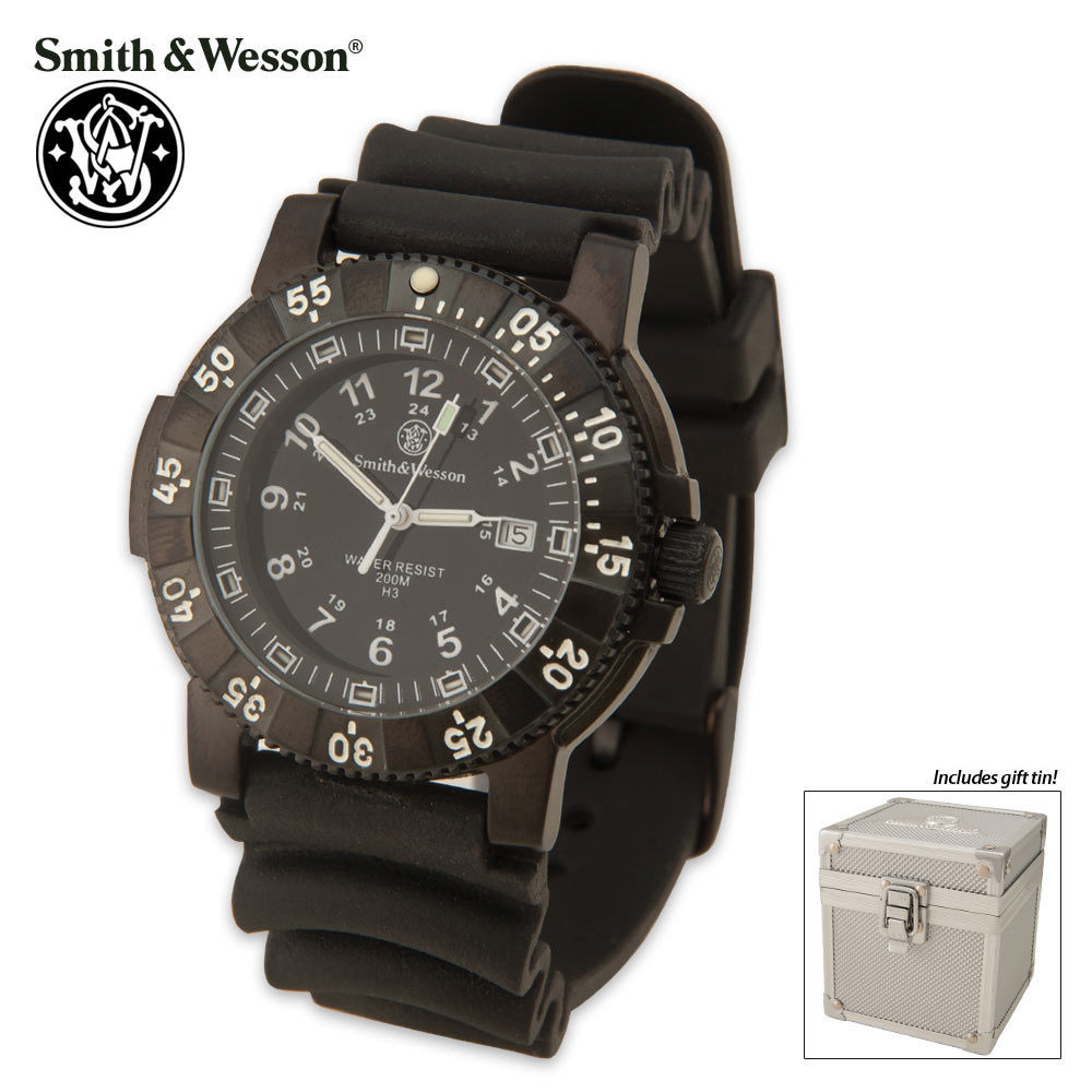 Smith wesson tritium dive watch kennesaw cutlery for Tritium dive watches