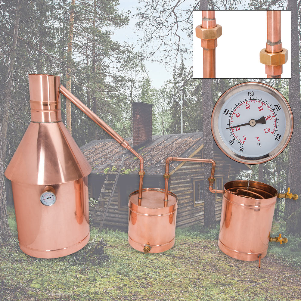10 Gallon Large Copper Moonshine Still With Upgrades ...