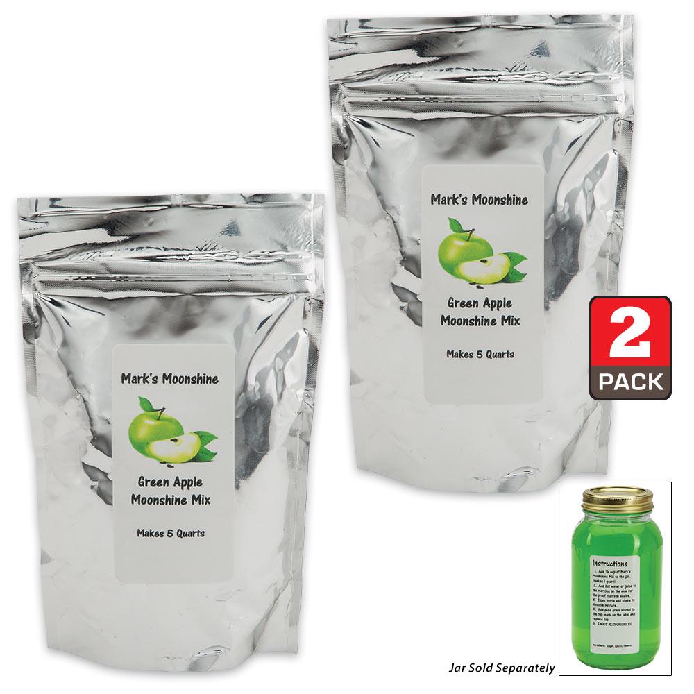 how to make green apple moonshine