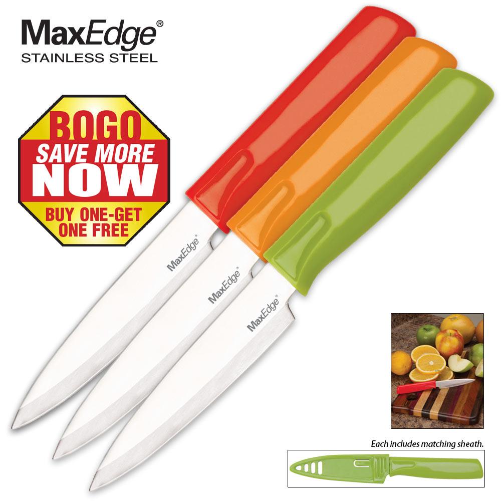 3 pack dishwasher safe paring knife set 2 for 1 kennesaw