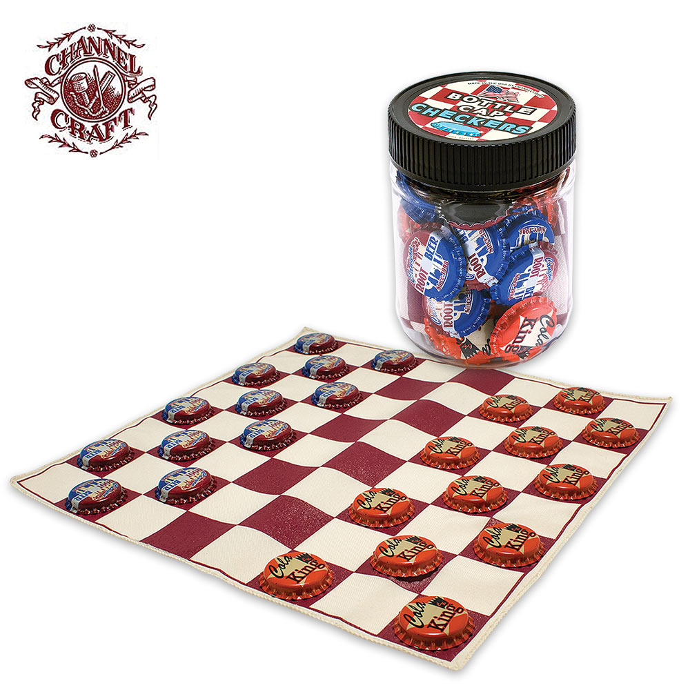 Bottle Cap Checkers Game | BUDK com - Knives & Swords At The