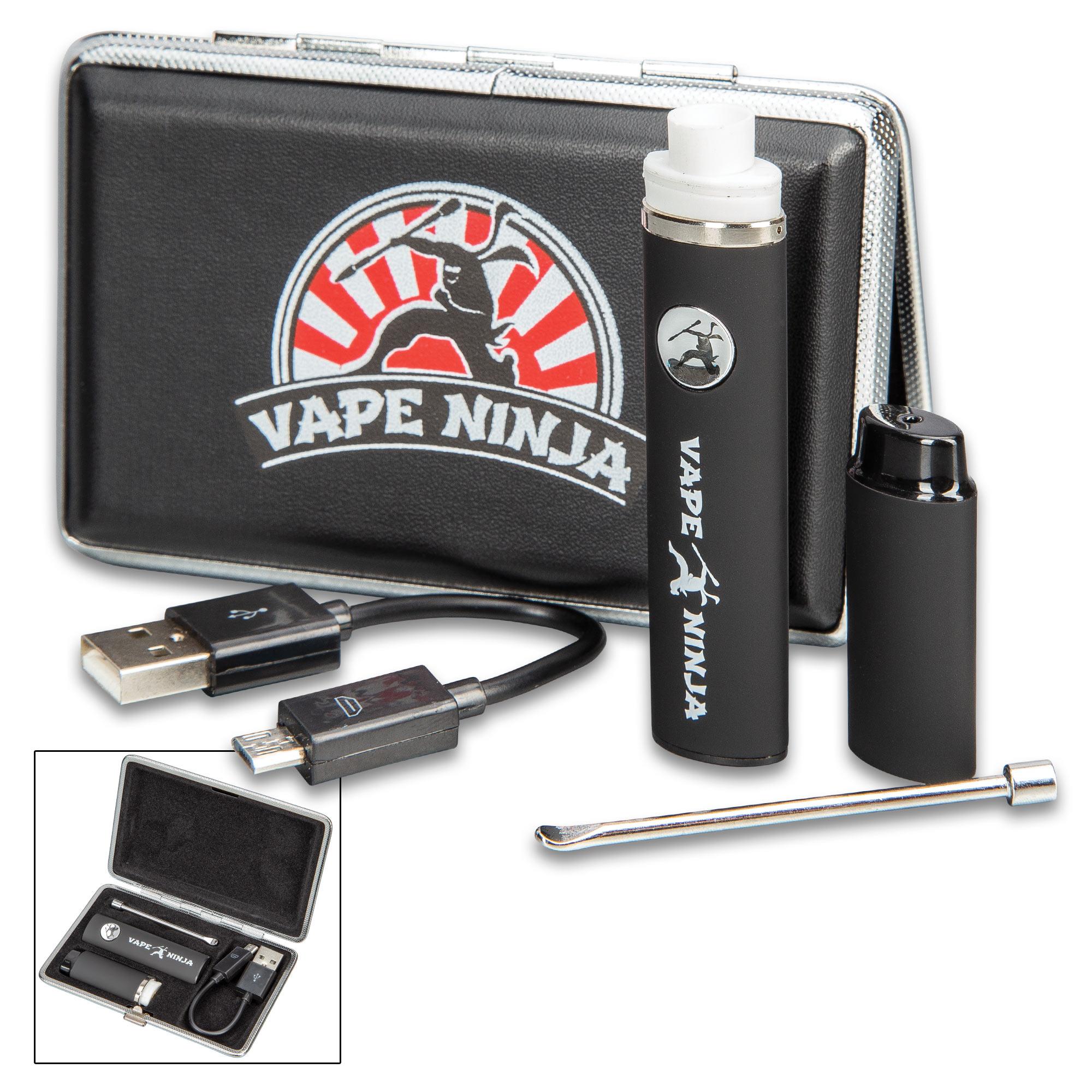 Vape Ninja Kato Micro Vape Pen With Case - Wickless Dual