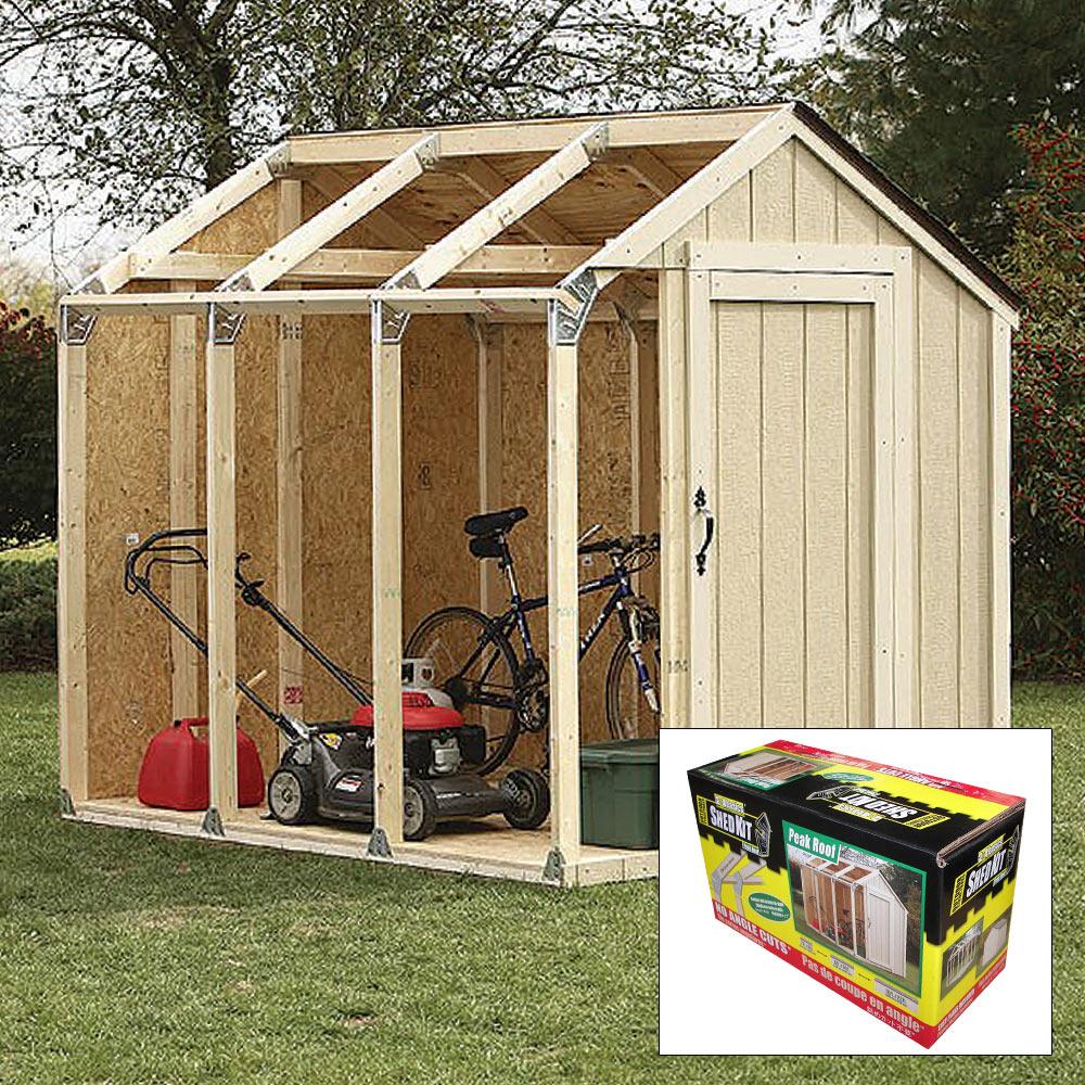 2x4 Basics Diy Shed Kit Peak Roof Style Budk Com