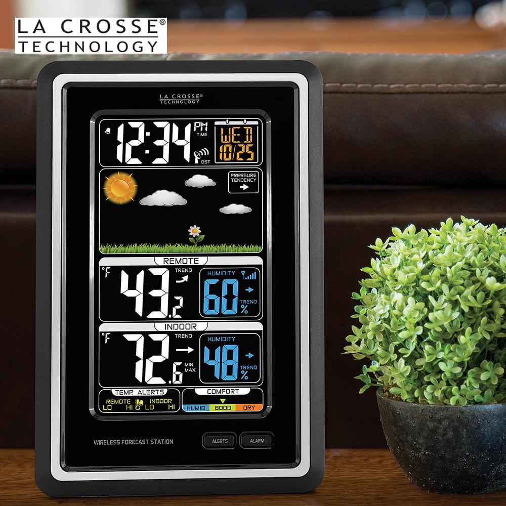 la crosse technology wireless color weather station black kennesaw cutlery. Black Bedroom Furniture Sets. Home Design Ideas