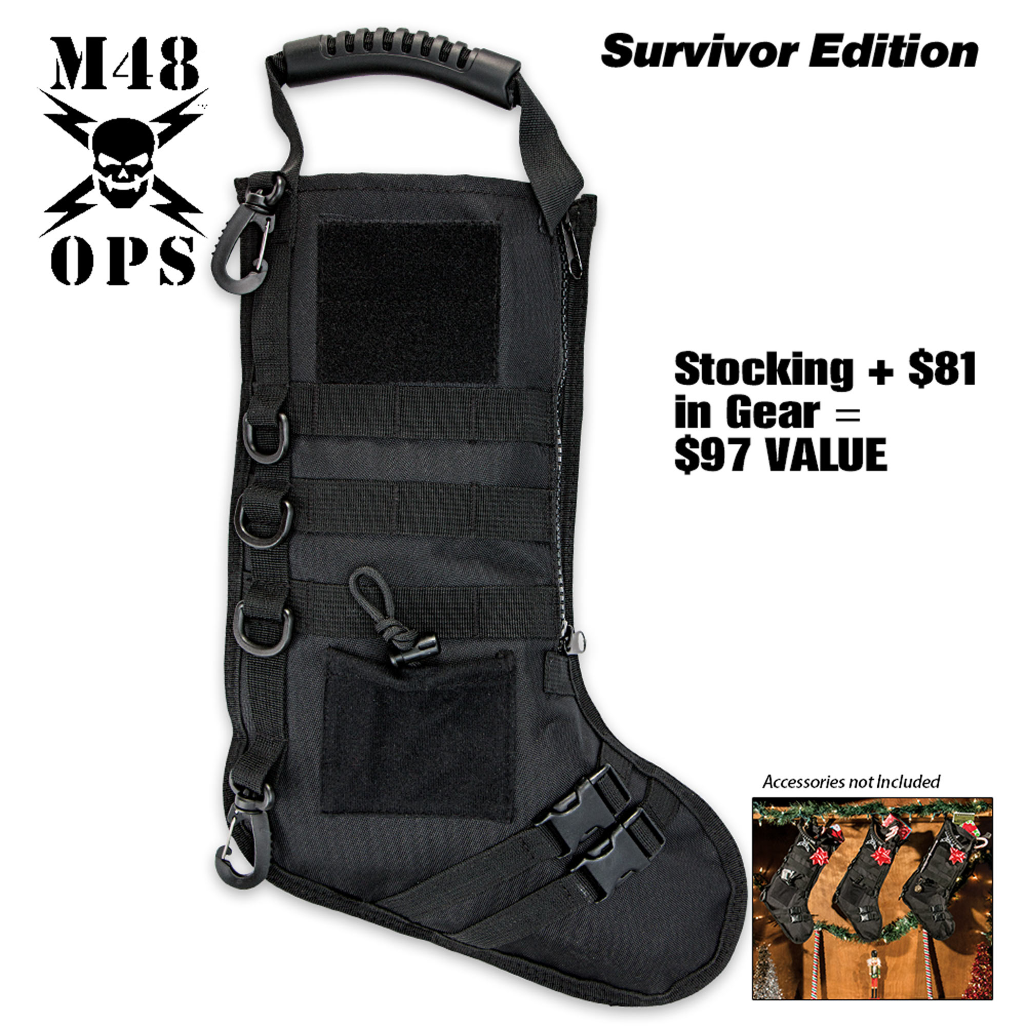 Tactical Christmas Stocking Stuffed.M48 Tactical Stuffed Stocking Survivor Edition Filled With 40 In Survival Gear