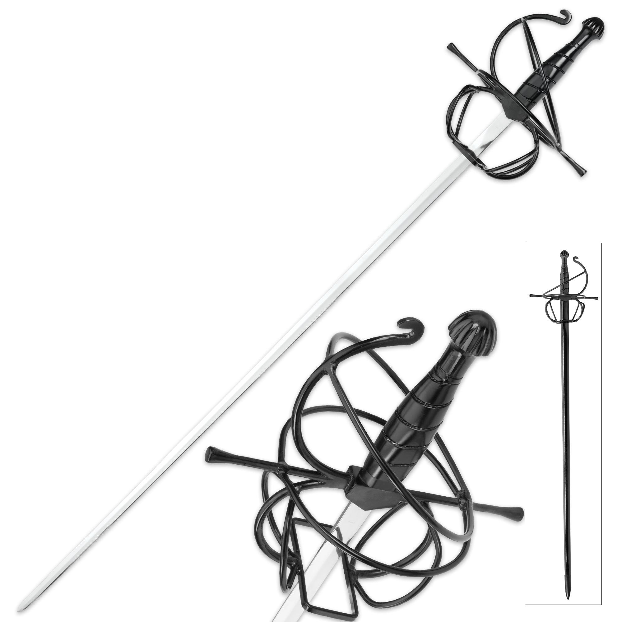 Seville Stinger Rapier Display Sword, Scabbard - Spiral