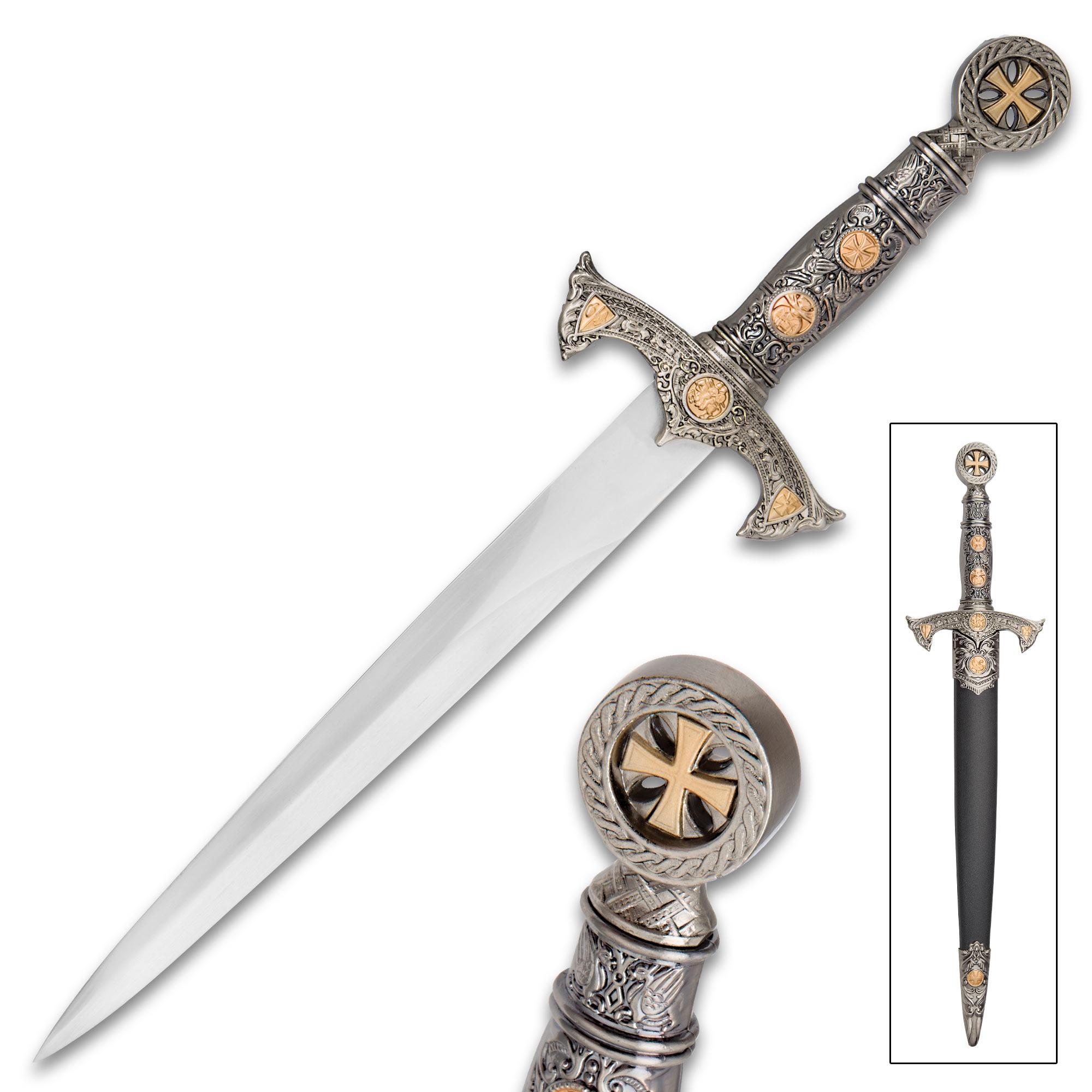 Tomahawk Crusader Cruciform Short Sword With Sheath | True