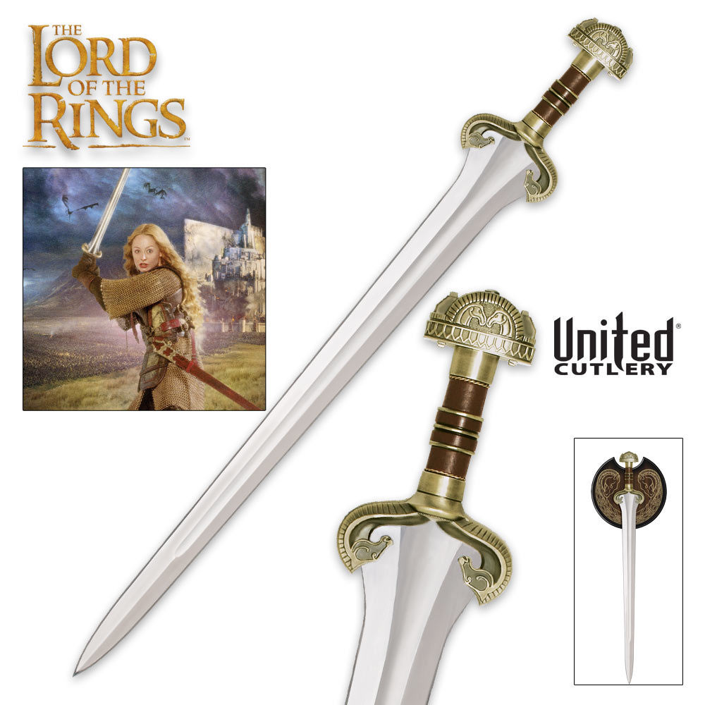 lotr the sword of eowyn with display budk knives