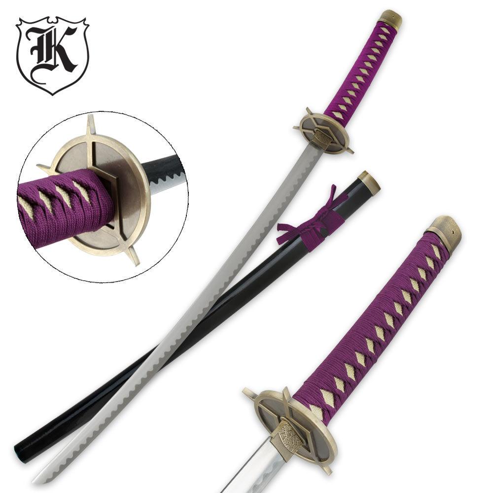 Purple Imperial Warrior Samurai Katana Sword | BUDK.com ...