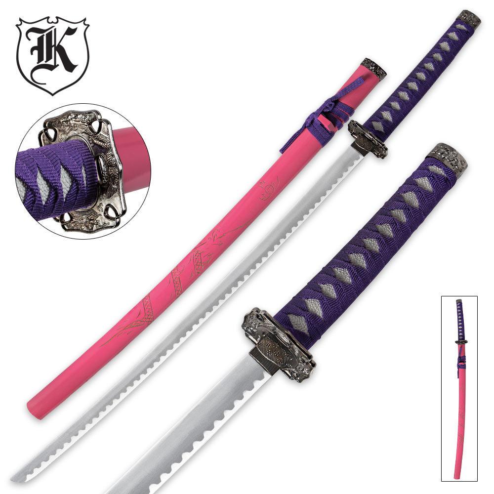 Femme Fatale Pink & Purple Dragon Katana Sword | BUDK.com ...
