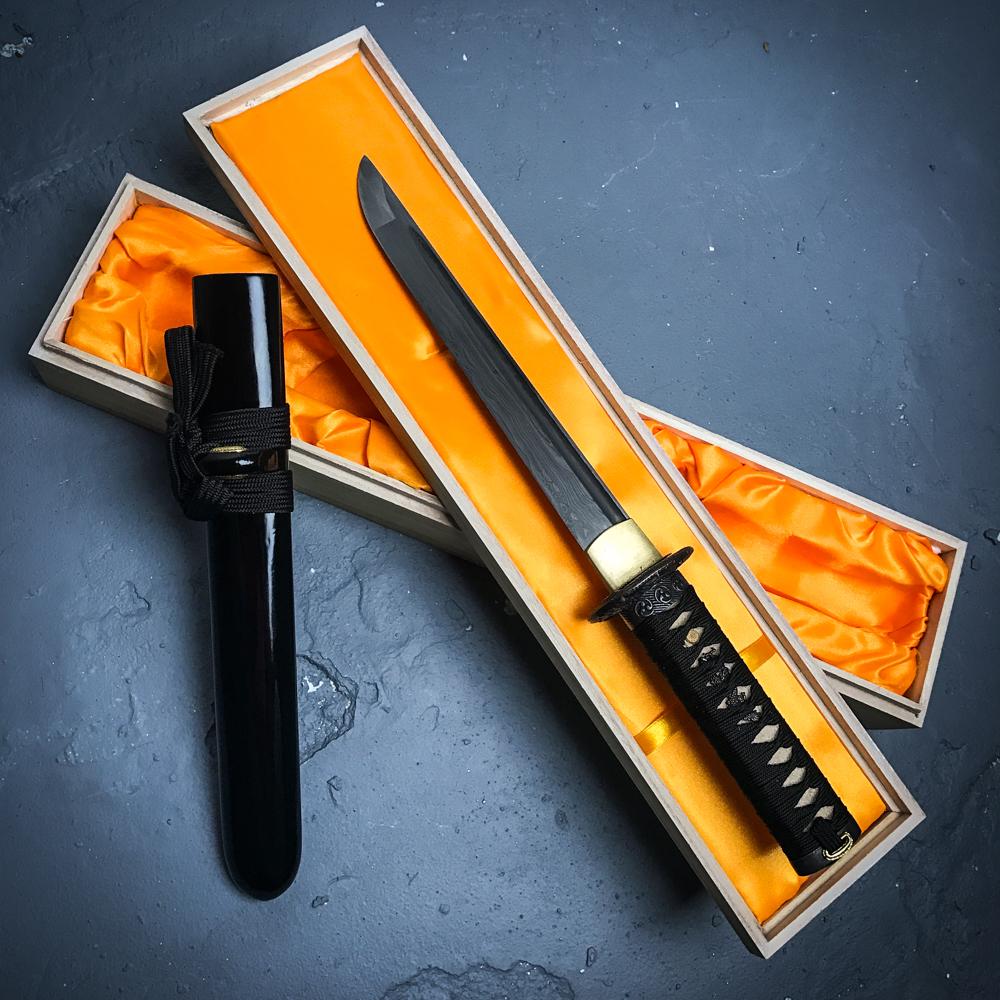 Ryumon Hand Forged Damascus Steel Samurai Tanto Sword ...