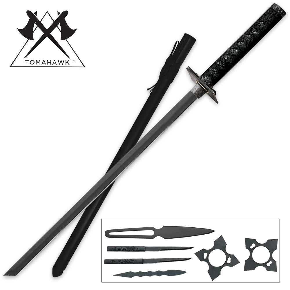 Black Ninja Swords www imgkid com - The Image Kid Has It!