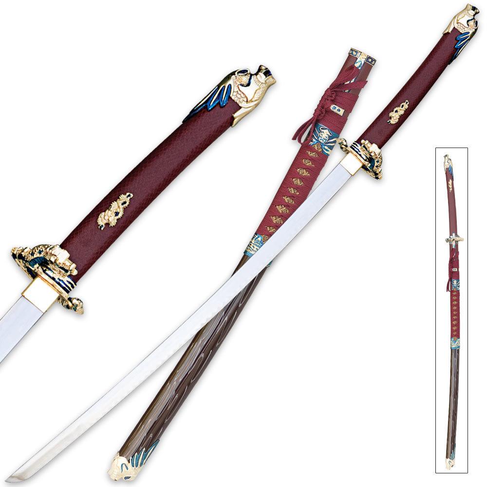 Red katana sword