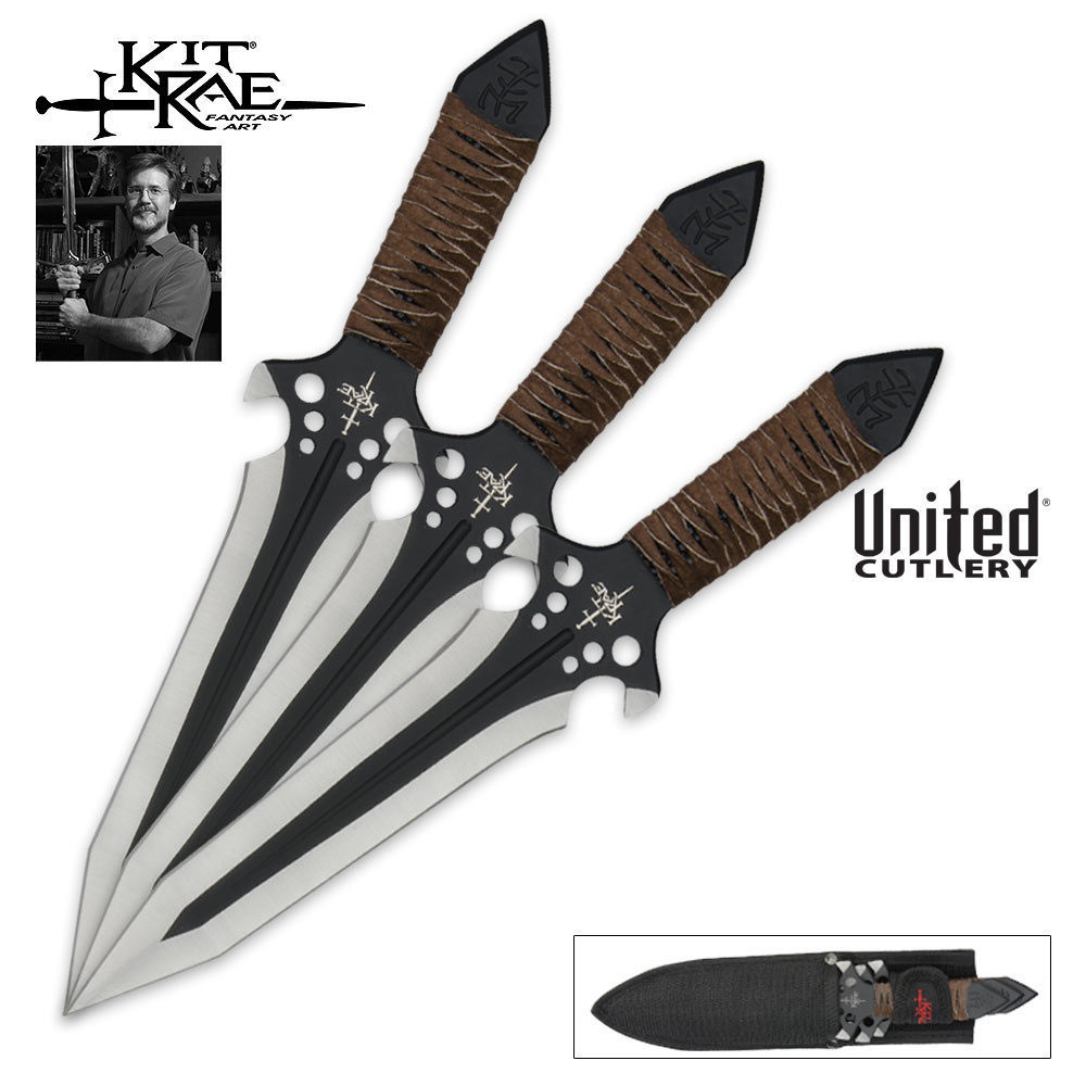 Hell Hawk 174 9 3 4 Inch Throwing Knife Triple Set Budk Com Knives Amp Swords At The Lowest Prices