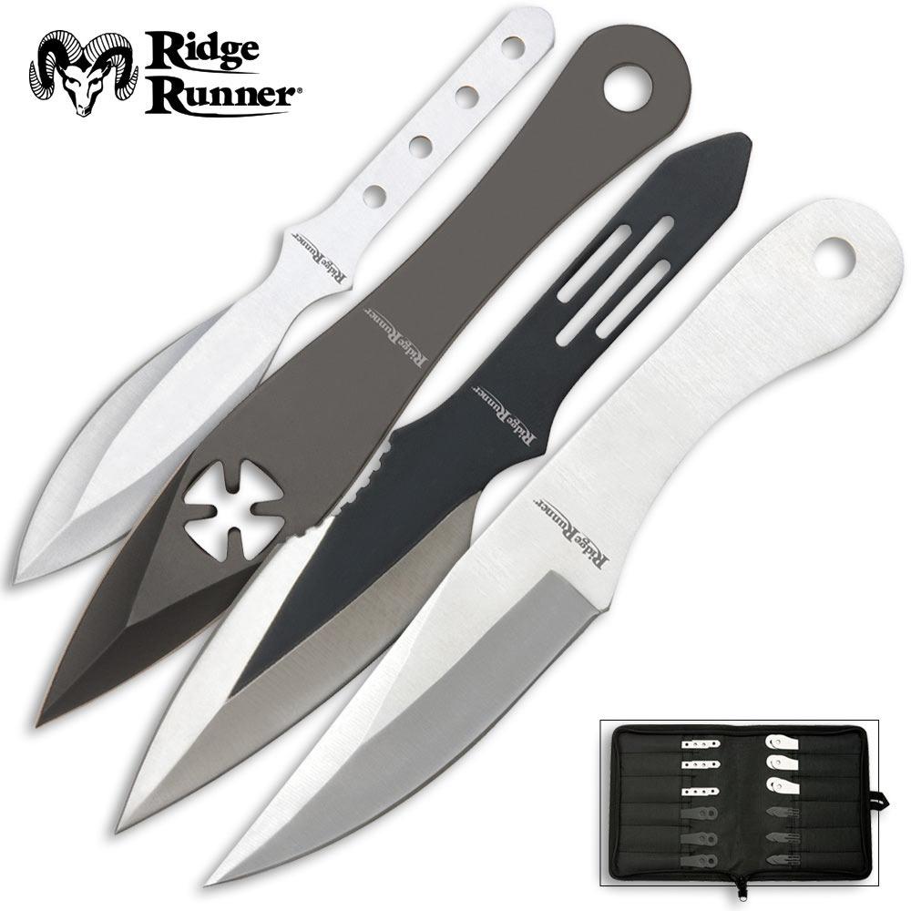 24-Piece Ridge Runner Throwing Knives Set | BUDK.com ...
