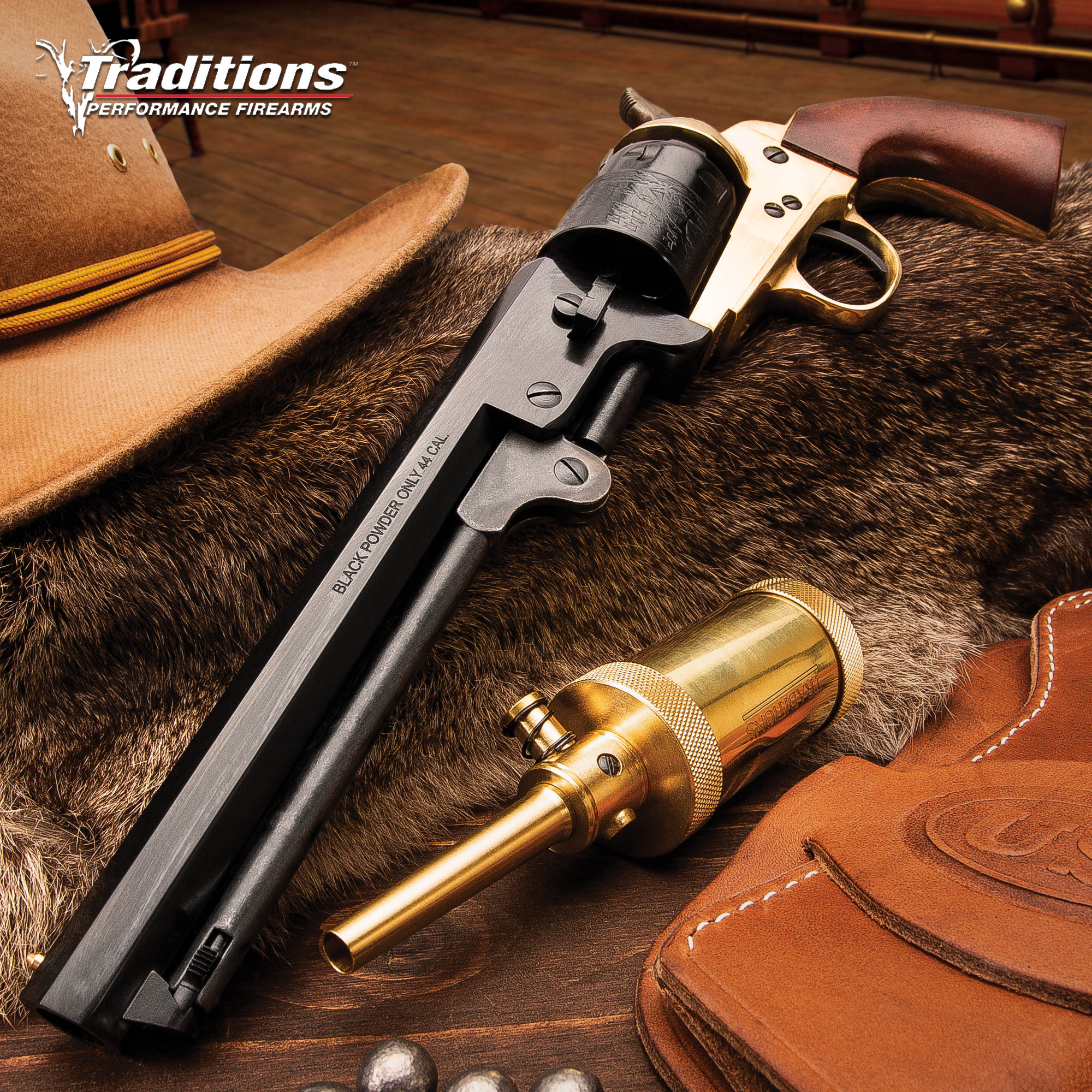 Traditions Firearms 1851 Colt Navy Black Powder  44 Revolver with