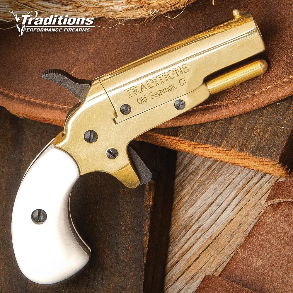 Traditions Vest Pocket Brass Derringer Pistol Free Shipping