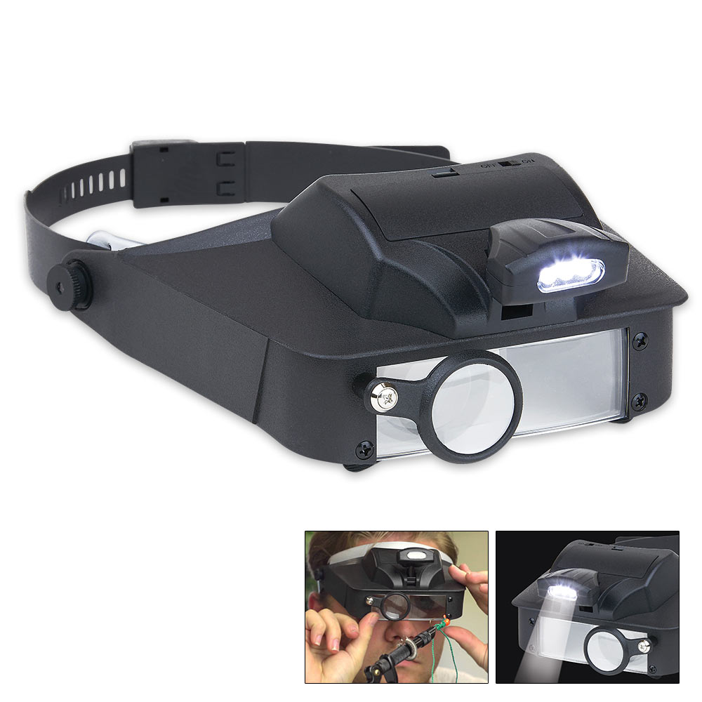 Lumivisor Led Lighted Head Visor Magnifier Knives Swords At The Lowest Prices