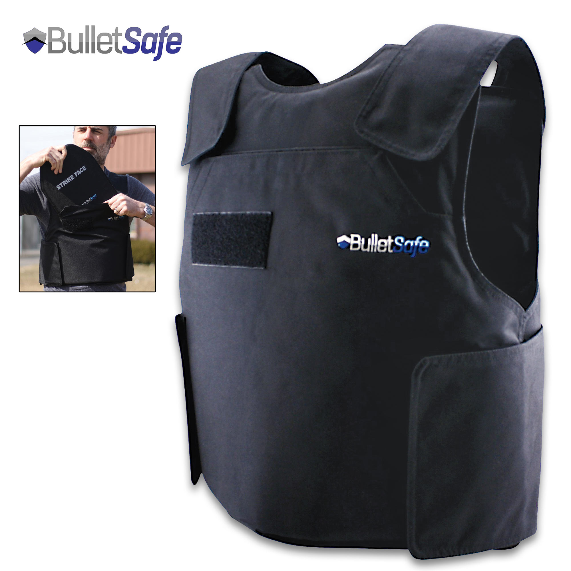 43efa6e38 BulletSafe Bulletproof Vest - NIJ Level IIIA Protection Protects ...