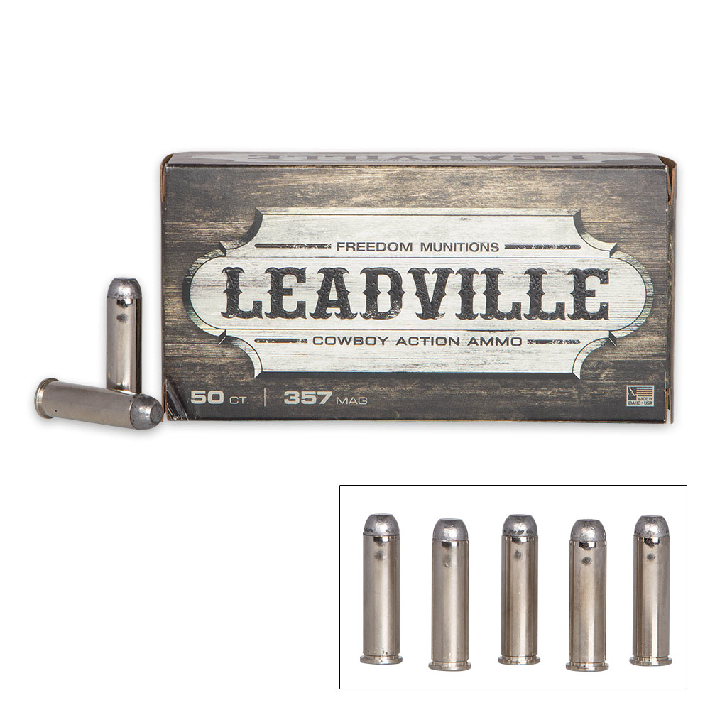 Leadville by Howell Munitions  357 Magnum 125gr RNFP Rounds