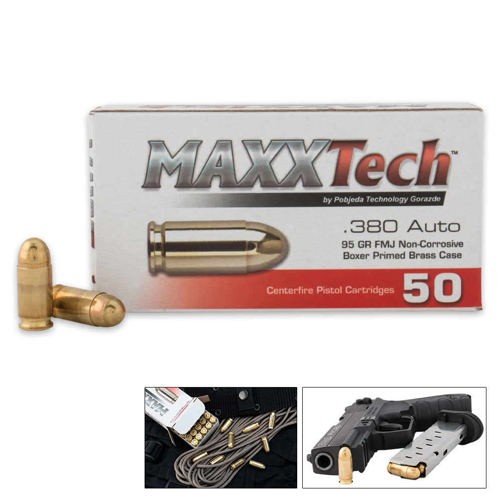 MaxxTech  380 ACP 95 Grain FMJ