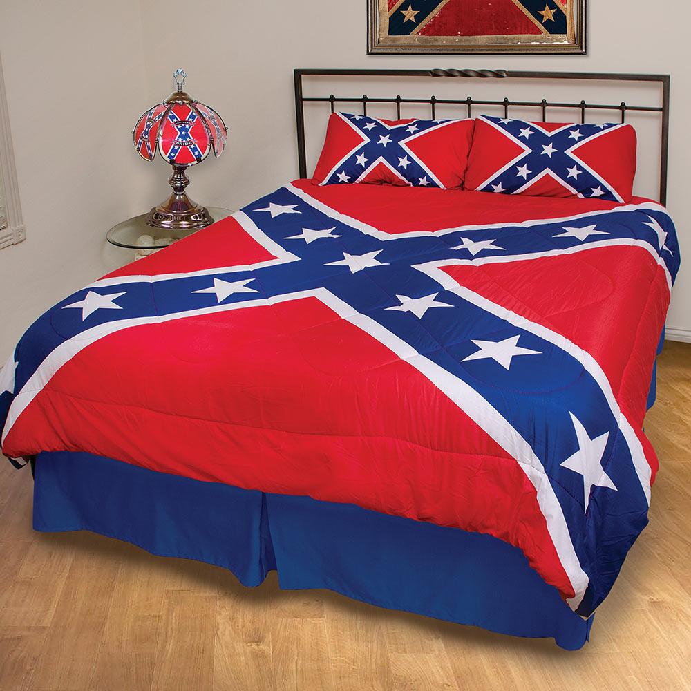 Rebel Flag Three-Piece Comforter Set BUDK com - Knives