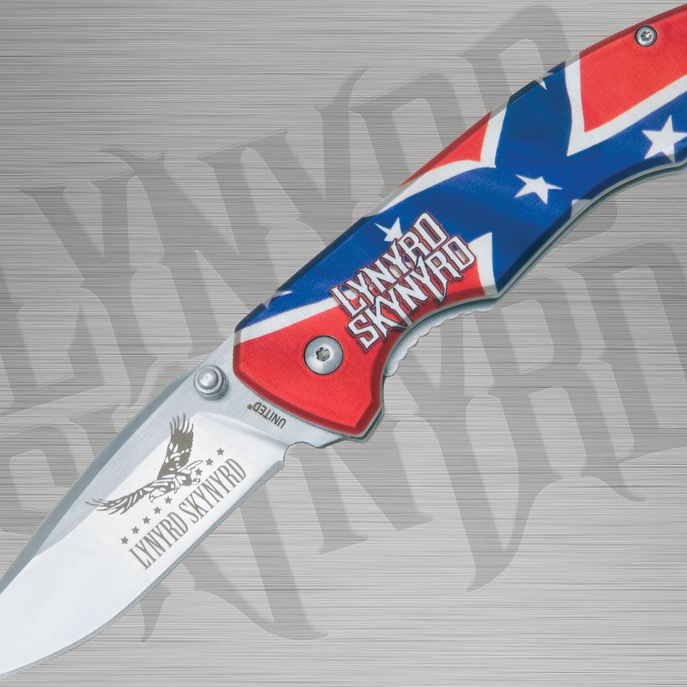 Rebel flag pocket knife budk com knives amp swords at the lowest