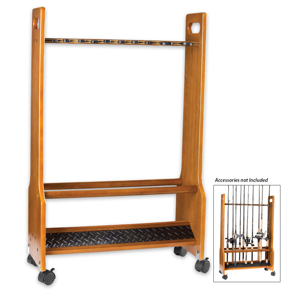 heavy duty rolling floor rack 16 rods. Black Bedroom Furniture Sets. Home Design Ideas
