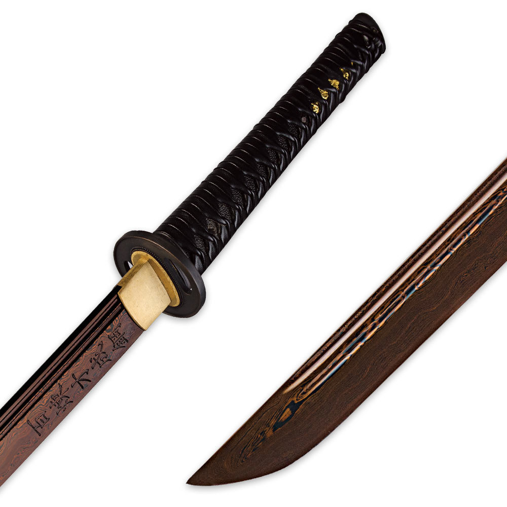 Dragon Stalker Katana Sword Rich Black Damascus Steel ...