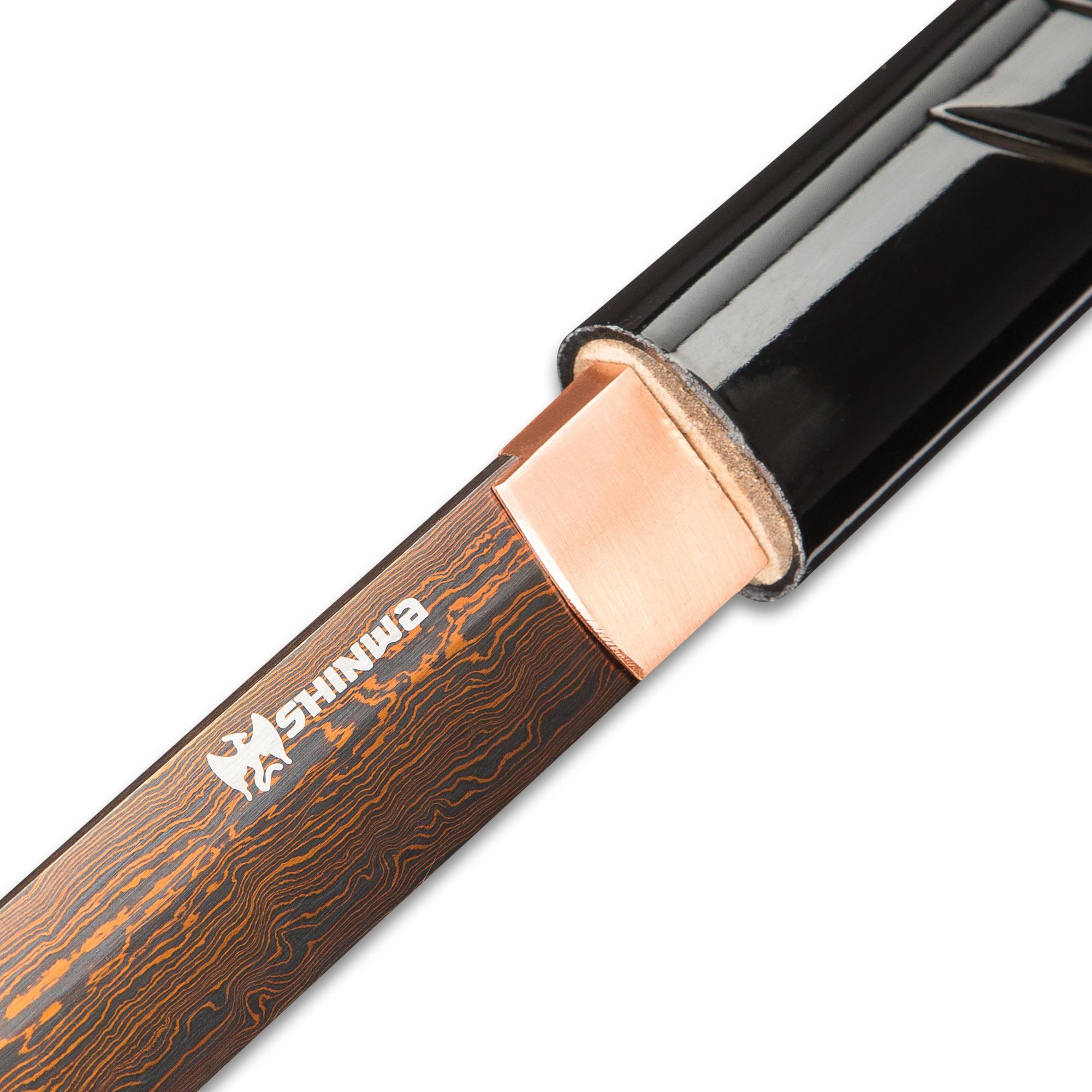 Shinwa Black Shirasaya Damascus Steel Sword   BUDK.com ...