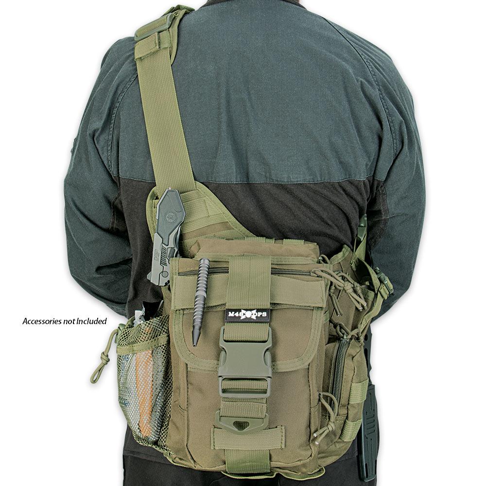 M48 Gear Tactical Waist Sling Bag - Messenger Bag - OD Green ...
