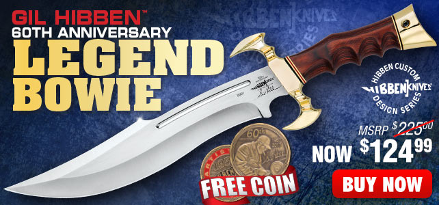 Gil Hibben 60th Anniversary Hibben Legend Bowie Knife