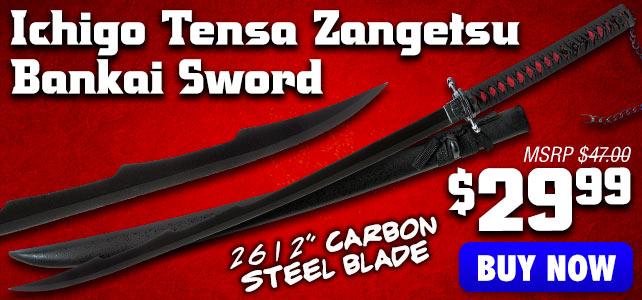 Anime Inspired Ichigo Tensa Zangetsu Bankai Sword