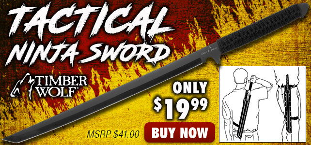 Timber Wolf Ninja Sword