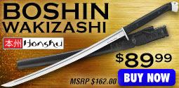 Honshu Boshin Wakizashi Sword