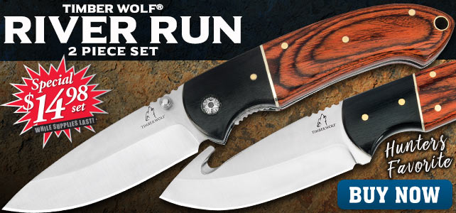 Timber Wolf River Run 2-Piece Hunting Knife Set