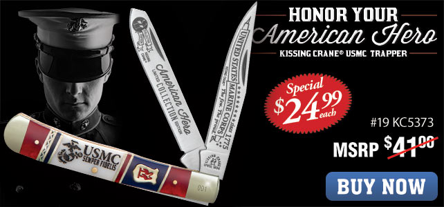 Kissing Crane USMC Trapper Knife
