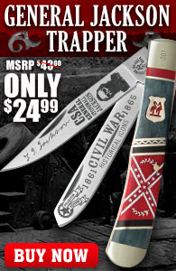 Kissing Crane Stonewall Jackson Trapper Pocket Knife