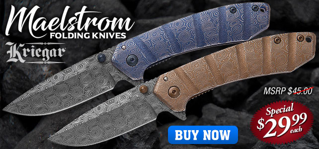 Kriegar Maelstrom DamascTec Steel Pocket Knife