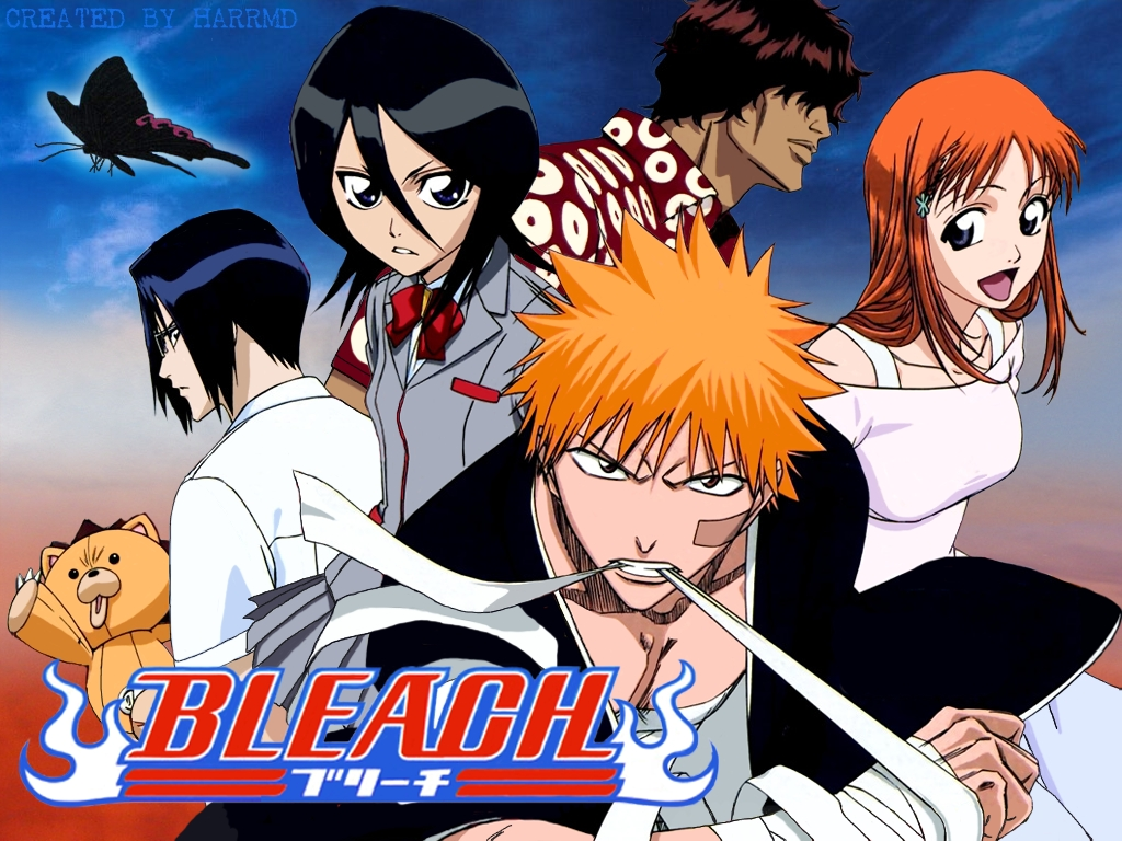Bleach features a teenager ichigo who becomes a soul reaper